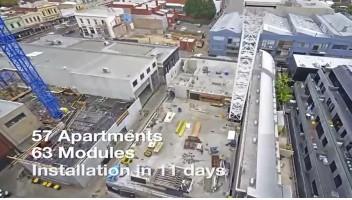 组合式货柜安装过程