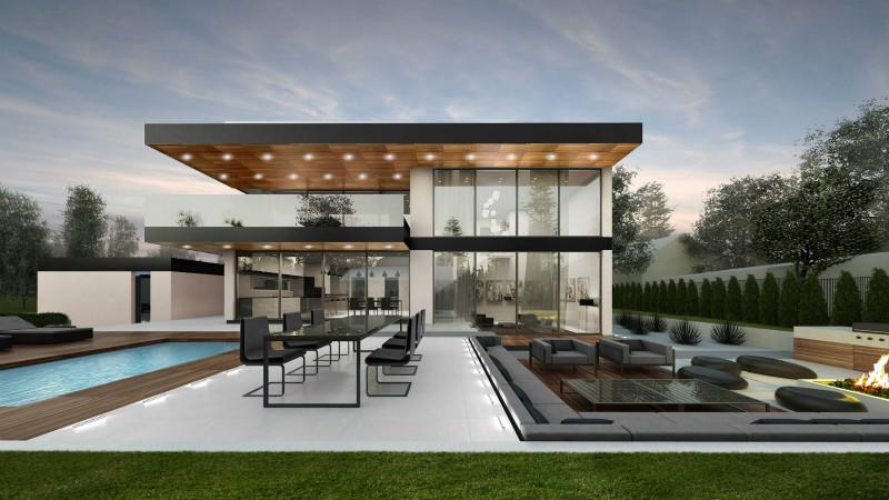 平顶钢结构别墅